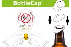 BottleCap, bierflesdop, fles dop, anti drugs fles, anti insecten fles