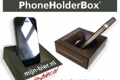 PhoneHolderBox, telefoonhouder, telefoonpromotie, promotieartikel telefoon