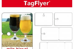 TagFlyer, ruitenwisser flyer, flyeren auto, ruitenwisser reclame, bier reclame