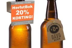 Nekhanger, fleshanger, bier promotie, hangtag, bier promoten