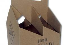 bedrukte bierverpakking, 4-Pack Duvel flesjes 4x 75x75mm