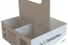 bedrukte bierverpakking, 4-pack voor 4 flesjes bier of blikjes van 70 mm