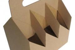 bierverpakking, 6pack, sixpack, six-pack, 6-pack, kraft karton voor zes flesjes 60x60x60 mm met handvat