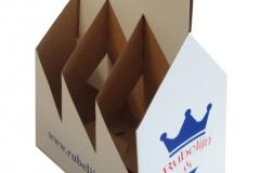 bedrukte bierverpakking, 6pack, sixpack, six-pack, 6-pack, kraft karton voor zes flesjes 60x60x60mm + handvat