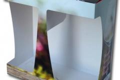 bedrukte bierverpakking, Doos 234x230x117mm met venster 2 glazen