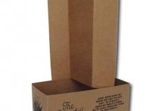 bedrukte bierverpakking, Draagtray 2 flessen 160x80x90mm