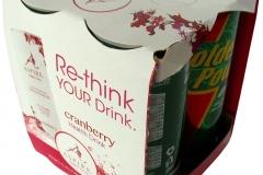 bedrukte bierverpakking, Verpakking 4-Pack 25cl blikjes, fourpack, 4pack, four-pack