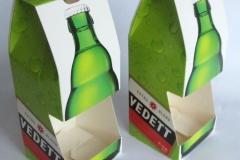 bedrukte bierverpakking, Verpakking voor één bierflesje